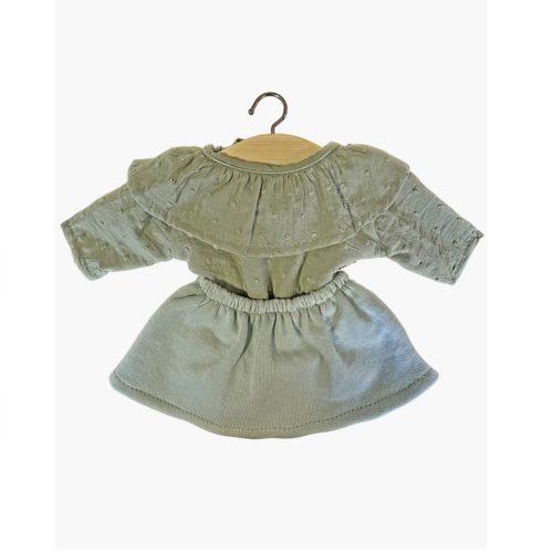 Minikane Set suknička a košeľa mint