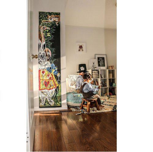 Samolepiaca tabuľa 45x200 cm