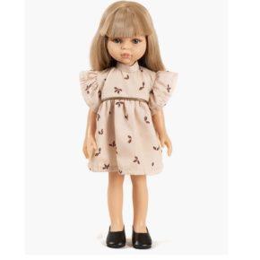 Bábika Carla v ružových šatách