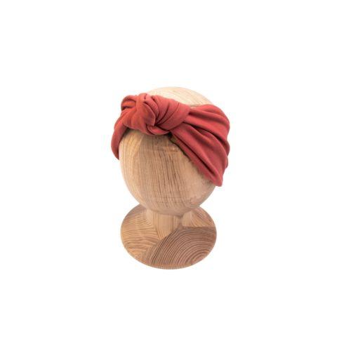 Dámska čelenka s uzlom Marsala