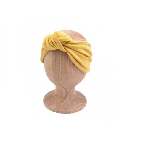 Dámska čelenka s uzlom Mustard