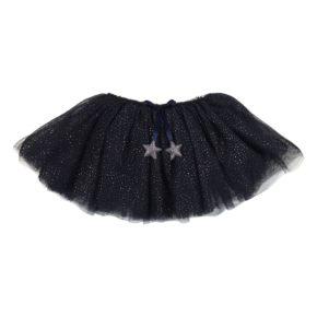 Trblietavá suknička Tutu tmavomodrá